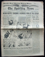 1950 Sporting News January 18 Bob Dillinger : Name written on front, ow EX Very Good