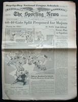 1950 Sporting News February 8 Gerry Priddy Very Good to Excellent