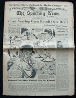 1950 Sporting News March 29 Sam Jethroe : Name written on front, ow EX Very Good to Excellent