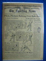 1950 Sporting News April 12 Billy Martin - Jackie Jensen : cover staining, contents fine Good to Very Good