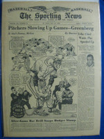 1950 Sporting News May 24 Ty Cobb Very Good