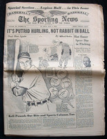 1950 Sporting News July 5 George Kell : Name written on front, sm tears along binding Good to Very Good