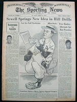 1951 Sporting News March 14 Stan Musial Good to Very Good [toning and minor staining, contents great]
