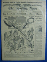 1954 The Sporting News April 7 1954 Brooklyn Dodgers Very Good