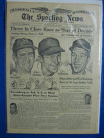 1956 The Sporting News July 4 Joe DiMaggio, Stan Musial, Ted Williams Very Good to Excellent