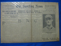 1918 Sporting News Jan 10 George Tyler Chicago Cubs Fair to Good