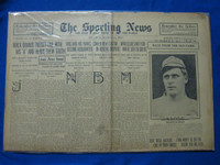 1918 Sporting News Mar 21 Miller Huggins - new manager of Yankees Good to Very Good
