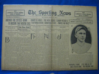 1918 Sporting News Apr 11 Bob Shawkey Good to Very Good