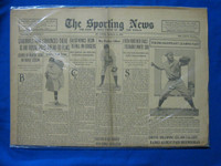 1932 Sporting News March 10 Pitcher Morris Murdered Fair to Good