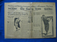 1932 Sporting News May 19 Babe Ruth Profile / Ernie Lombardi cover : Portion cut from cover Poor
