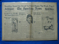 1932 Sporting News August 4 Kiki Cuyler Fair to Good