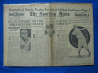 1932 Sporting News August 11 Veeck Fires Hornsby Fair to Good