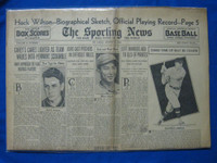 1932 Sporting News August 25 Hack Wilson Fair to Good