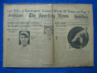 1932 Sporting News September 1 Red Ruffing Fair to Good