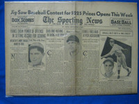 1932 Sporting News September 8 Mark Koenig Fair to Good