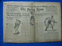 1932 Sporting News October 13 Joe Cronin Fair to Poor
