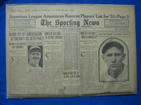 1932 Sporting News November 10 Fred Lindstrom Fair to Poor