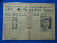 1932 Sporting News December 15 Travis Jackson Fair to Good