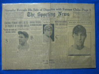 1932 Sporting News December 29 Rogers Hornsby Fair to Poor