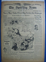 1945 Sporting News May 17 Jimmie Dykes : sl tear on top cover, lt toning - contents fine Good to Very Good