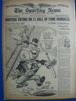 1946 Sporting News Jan 3 HOF Elections : toning on cover, lt wear on binding - contents fine Good to Very Good