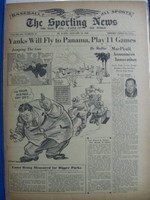 1946 Sporting News Jan 10 Sam Bearden : toning on cover, lt wear on binding - contents fine Good to Very Good