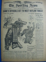 1946 Sporting News Feb 28 Mexican League : toning on cover, lt wear on binding - contents fine Good to Very Good