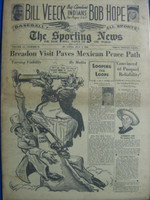 1946 Sporting News Jul 3 Veeck Buys Cleveland Indians : toning on cover, contents fine Good to Very Good