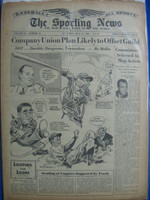 1946 Sporting News Jul 17 Ted Williams - All Star Game Coverage : toning on cover, contents fine Good to Very Good