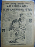 1946 Sporting News Jul 24 Larry MacPhail (Cover) : toning on cover, heavy wear on binding - contents fine Fair to Good