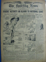1946 Sporting News Dec 25 Billy Evans : toning on cover, lt wear on binding - contents fine Good to Very Good