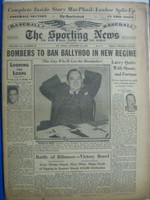 1947 Sporting News Oct 15 World Series Coverage : Staining and toning on cover - contents fine Fair to Good
