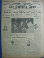 1947 Sporting News Nov 5 Red Ruffing Retires : toning on cover, lt wear on binding - contents fine Good to Very Good