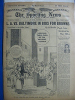 1947 Sporting News Dec 10 Sam Breadon : heavy toning on cover, lt wear on binding - contents fine Good to Very Good