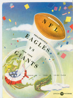 1948 NFL Program Eagles vs Giants Oct 10 1948 Excellent to Mint