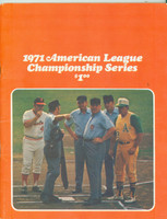 1971 AL Championship Program (84 pages) Orioles vs Athletics UNSCORED Near-Mint to Mint