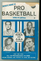 Sporting News  1970 Who's Who in Basketball (includes ABA) (144 pages) - COVER: West, Alcindor, Reed, Barry Very Good [Book warped from moisture, small tear on cover, contents fine; scarce]