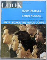 LOOK Magazine June 14, 1966 JFK's Legacy: the Peace Corps also ft: Sandy Koufax (from the Red Schoendienst collection) Very Good to Excellent