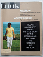 LOOK Magazine April 4, 1967 Jackie Kennedy (90 pages) (from the Red Schoendienst collection) Very Good to Excellent