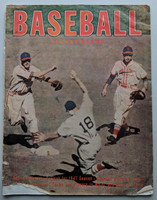 1947 Baseball Illustrated (42 pages) loaded with photos and features on the upcoming 1947 season - Oversized (10.5 inches by 13.5) (from the Red Schoendienst collection) Very Good [Wear along binding, small tear away on cover; contents fine]