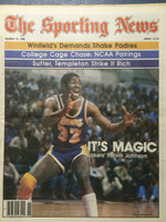 1980 The Sporting News March 15 Magic Johnson Lakers Near-Mint