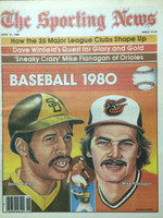 1980 The Sporting News April 12 Opening Day Issue: Dave Winfied and Mike Flanagan Near-Mint