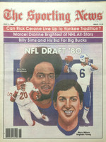 1980 The Sporting News May 3 NFL Draft 80: Billy Sims, Marc Wilson Near-Mint