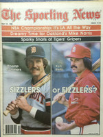 1980 The Sporting News May 31 Sizzlers or Fizzlers: Champ Summers (Tigers) and Ken Reitz (Cardinals) Near-Mint