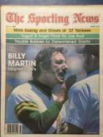 1980 The Sporting News July 5 Billy Martin Oakland Athletics Near-Mint