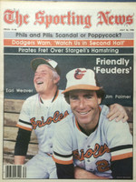1980 The Sporting News July 26 Jim Palmer, Earl Weaver : Friendly Feuders Near-Mint
