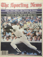1980 The Sporting News August 2 Reggie Jackson Yankees Near-Mint