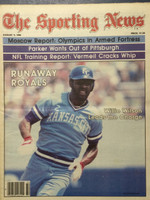 1980 The Sporting News August 9 Willie Wilson : Runaway Royals Near-Mint