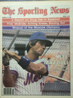 1980 The Sporting News August 16 Lee Mazzilli Mets Near-Mint