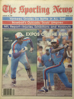1980 The Sporting News August 30 Ron LeFlore, Tim Raines : Expos on the Run Near-Mint